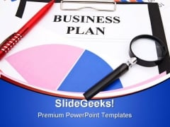 Business Plan Business PowerPoint Template 0910