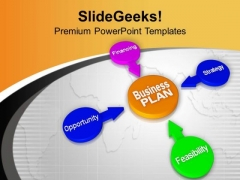 Business Plan Is Key Of Success PowerPoint Templates Ppt Backgrounds For Slides 0513
