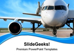 Business Plane Travel PowerPoint Themes And PowerPoint Slides 0511