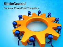 Business Process Teamwork PowerPoint Themes And PowerPoint Slides 0411