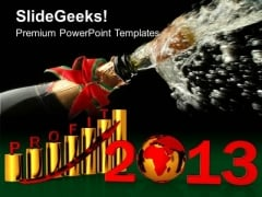 Business Profit Year 2013 Celebration PowerPoint Templates Ppt Backgrounds For Slides 1112