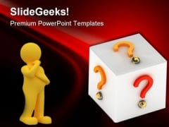 Business Questions Symbol PowerPoint Themes And PowerPoint Slides 0511