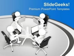 Business Review And Target Meetings PowerPoint Templates Ppt Backgrounds For Slides 0713
