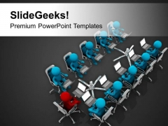 Business Review Meeting With Business Head PowerPoint Templates Ppt Backgrounds For Slides 0713