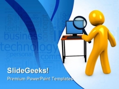 Business Search People PowerPoint Template 0910