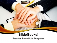 Business Support Handshake PowerPoint Themes And PowerPoint Slides 0511