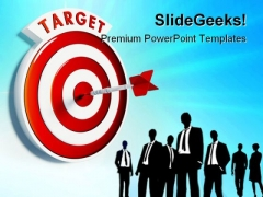 Business Target Success PowerPoint Templates And PowerPoint Backgrounds 0911