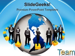 Business Team People PowerPoint Template 1010