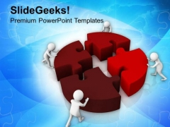 Business Team Solves The Business Problem PowerPoint Templates Ppt Backgrounds For Slides 0813