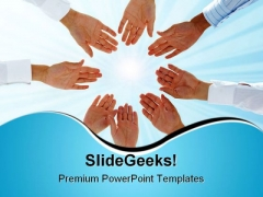 Business Team Teamwork PowerPoint Themes And PowerPoint Slides 0411