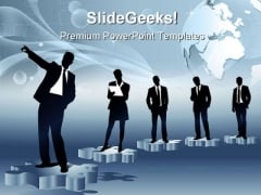 Business Teams Leadership PowerPoint Themes And PowerPoint Slides 0611