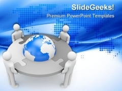 Business Teamwork Global PowerPoint Templates And PowerPoint Backgrounds 0511