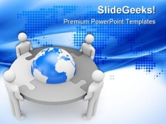Business Teamwork Global PowerPoint Themes And PowerPoint Slides 0511