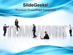 Business Teamwork Success PowerPoint Templates And PowerPoint Backgrounds 0511