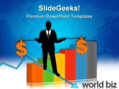 Businessman Holding Dollar Finance PowerPoint Templates And PowerPoint Backgrounds 0611