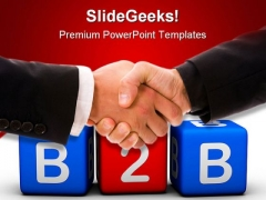 Businessman To Businessman Handshake PowerPoint Templates And PowerPoint Backgrounds 1011