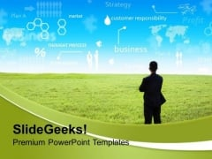 Businessman With Innovative Ideas Strategy PowerPoint Templates Ppt Backgrounds For Slides 0213