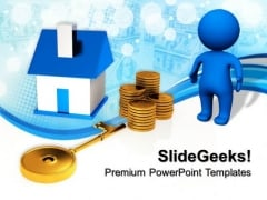 Buying A Home Real Estate Money PowerPoint Templates And PowerPoint Themes 0812