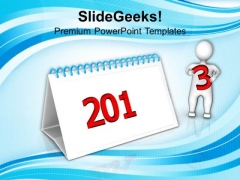 Calendar With 2013 New Year Concept PowerPoint Templates Ppt Backgrounds For Slides 1212