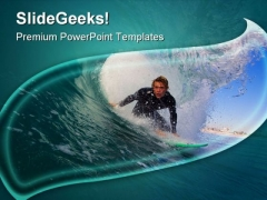 California Surfer Holidays PowerPoint Templates And PowerPoint Backgrounds 0511