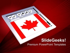 Canadian Website PowerPoint Templates And PowerPoint Themes 1012