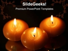 Candles Light Festival PowerPoint Template 0810