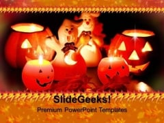 Candles With Halloween Pumpkin Festival PowerPoint Templates And PowerPoint Themes 0912