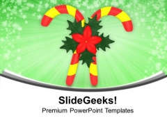 Candy For Christmas Celebration PowerPoint Templates Ppt Backgrounds For Slides 0613