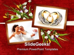 Card For Wedding Day Youth PowerPoint Templates And PowerPoint Backgrounds 0311