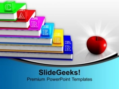 Career On Books Alphabet Blocks Apple Future PowerPoint Templates Ppt Backgrounds For Slides 1212