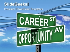 Career Oportunity Education PowerPoint Themes And PowerPoint Slides 0811