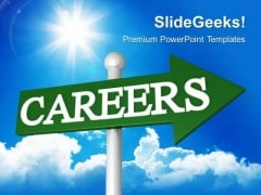 Career Signpost Future PowerPoint Templates And PowerPoint Themes 0512