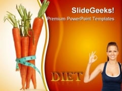 Carrots For Diet Health PowerPoint Templates And PowerPoint Backgrounds 0311