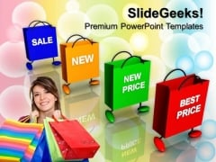 Carry Bags And Prices Buying Group Sales PowerPoint Templates And PowerPoint Themes 0712