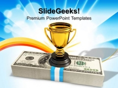 Cash And Trophy Award Winner PowerPoint Templates And PowerPoint Themes 1012