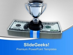 Cash And Trophy Winner Competition PowerPoint Templates Ppt Background For Slides 1112