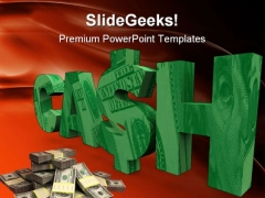 Cash Money PowerPoint Themes And PowerPoint Slides 0511