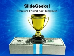 Cash Profit Trophy Business PowerPoint Templates And PowerPoint Themes 1012