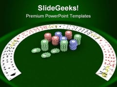Casino Cards Games PowerPoint Template 1010