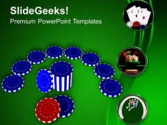 Casino Chips To Play And Win Game PowerPoint Templates Ppt Backgrounds For Slides 0313
