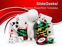 Casino Game PowerPoint Templates And PowerPoint Backgrounds 0311
