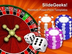 Casino Game Sports PowerPoint Backgrounds And Templates 0111