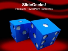 Casino Theme Dice To Show Lifestyle PowerPoint Templates Ppt Backgrounds For Slides 0413