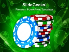 Casino Theme With Poker Game PowerPoint Templates Ppt Backgrounds For Slides 0413