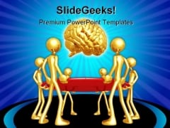 Catching Falling Brain Science PowerPoint Backgrounds And Templates 1210