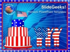 Celebrate 4th July Independence PowerPoint Templates And PowerPoint Themes 0612