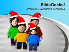 Celebrate And Enjoy Christmas With Family PowerPoint Templates Ppt Backgrounds For Slides 0713