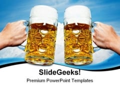 Celebrate Beers Festival PowerPoint Themes And PowerPoint Slides 0411