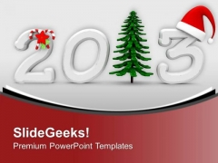 Celebrate Christmas And New Year PowerPoint Templates Ppt Backgrounds For Slides 0413