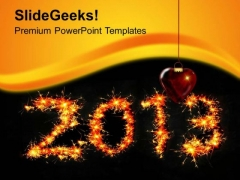 Celebrate New Year 2013 PowerPoint Templates Ppt Backgrounds For Slides 0613